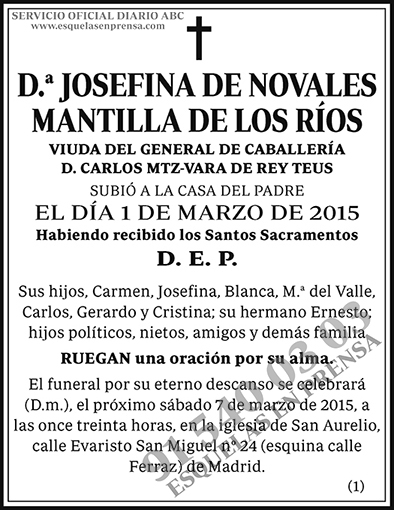 Josefina de Novales Mantilla de los Ríos